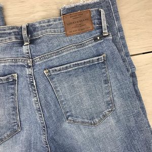 Lucky brand jeans Hayden crop raw hem size 4/27